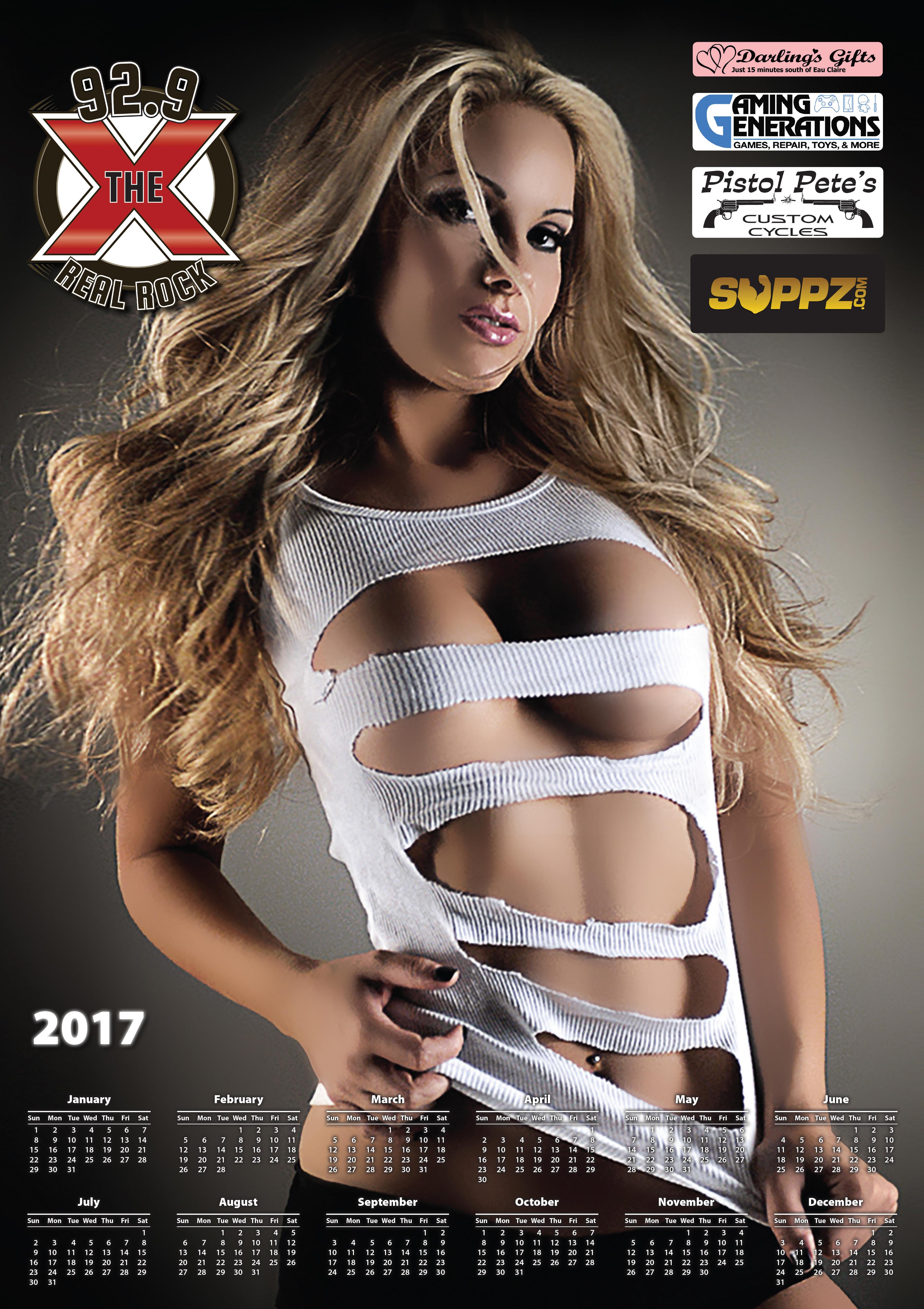 2017 X Calendar Posters
