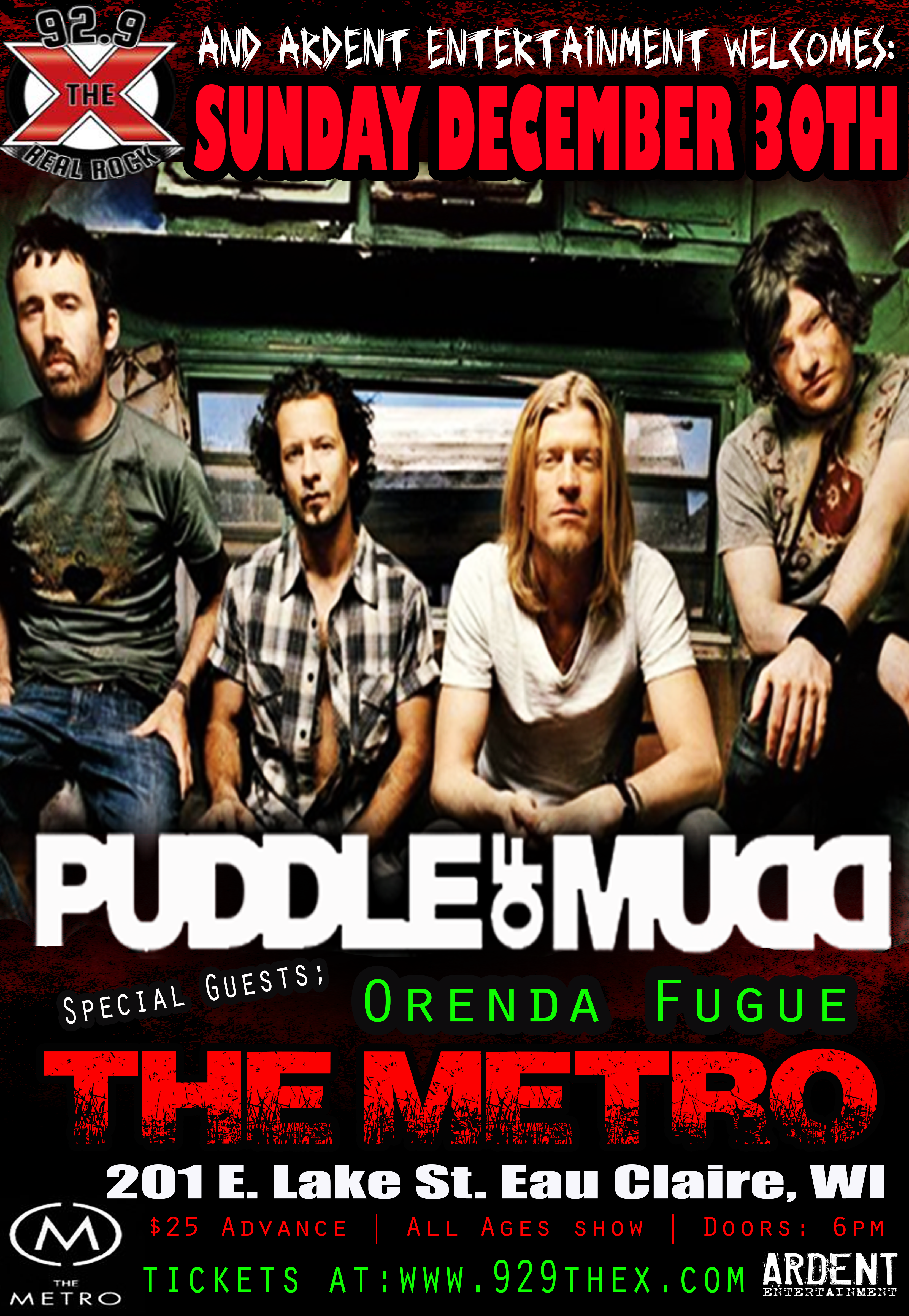 Puddle of Mudd – 12/30